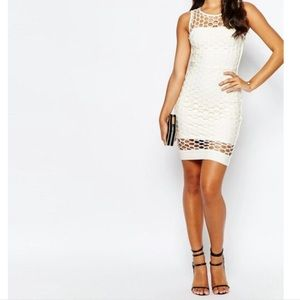 Forever Unique Ivory Bandage Bodycon Dress
